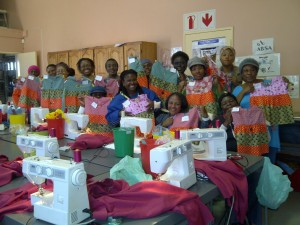 Sewing Training at Basadi Pele Foundation sponsored by NLDTF