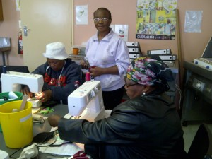 Sewing training at Basadi Pele Foundation sponsored by NLDTF (2)